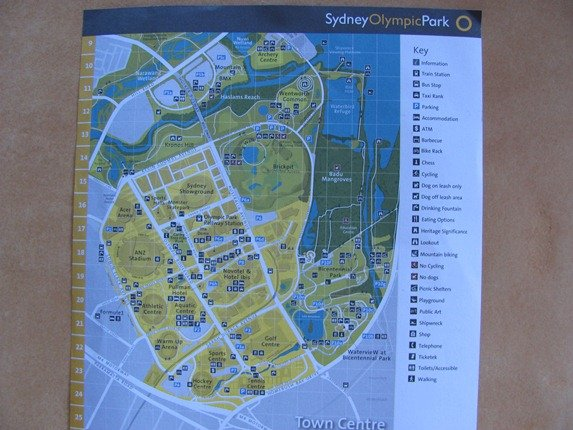Map Provided For Exploring Olympic Park