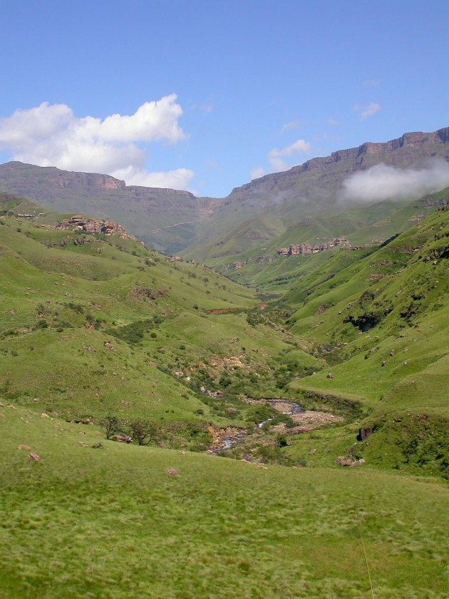 Sani Pass in summer by Adam Riley
