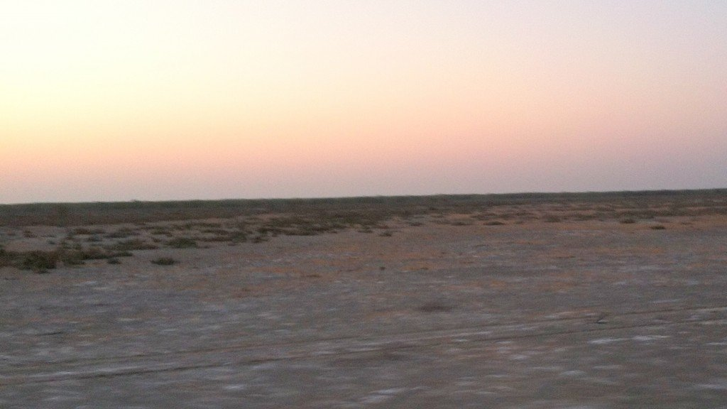 The White Desert in the morning