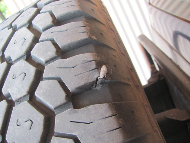 Metal in tyre