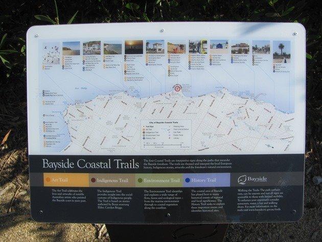 Bayside coastal trail map