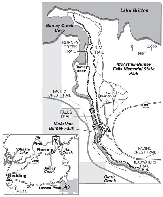 Burney Falls Trail Map