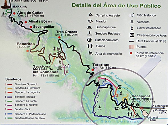 Calilegua Trails and Map