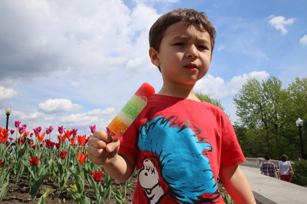Desi with popsicle