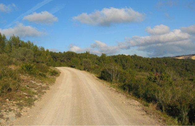 Garraf natural park dirt track