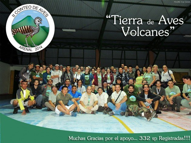 2014 Arenal Bird Count participants