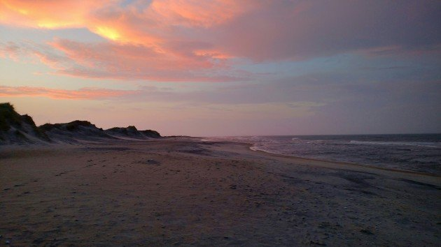 sunset, outer banks, beach