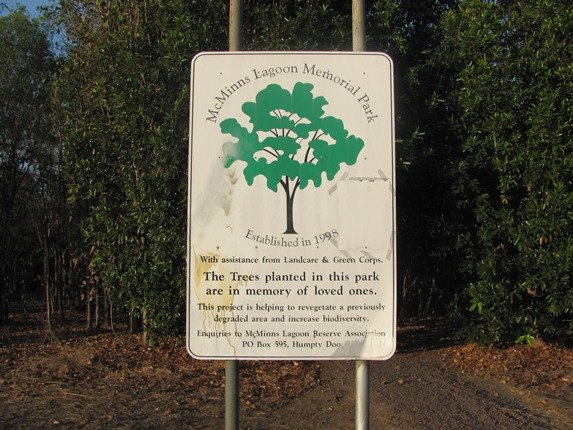 McMinns Lagoon sign
