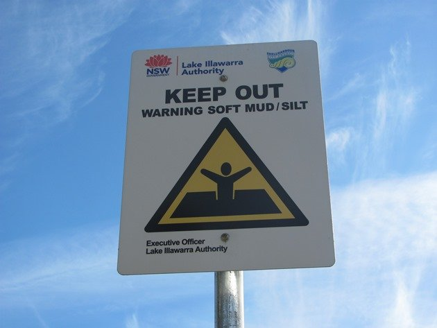 Mud warning