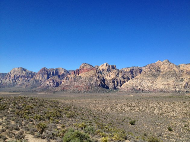 a view along the scenic drive at Red Rock Canyon National Conservation Area