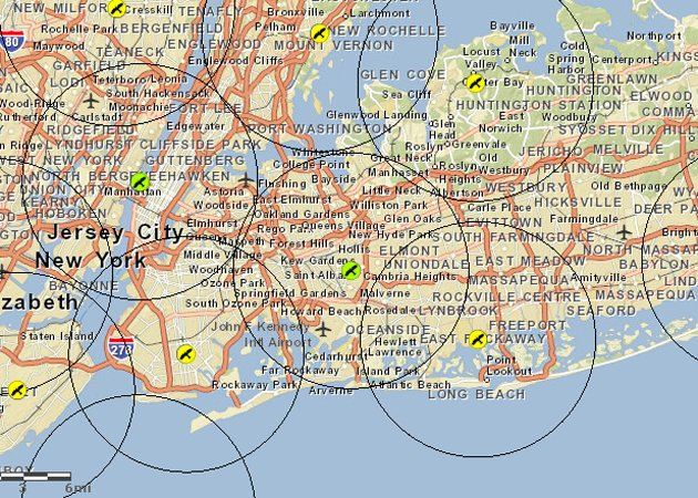 New York City's Christmas Bird Count circles