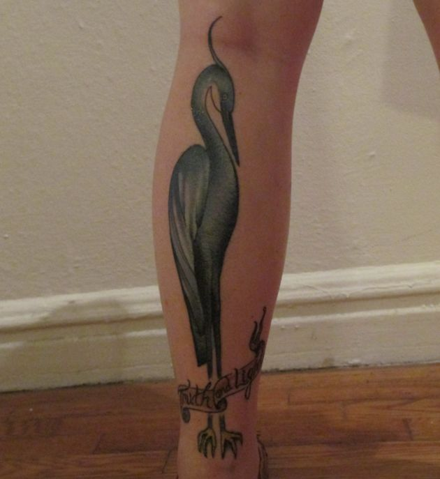 Tattoo of heron
