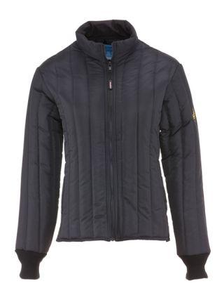 Refrigiwear Women's Vertical Puffer Jacket in black