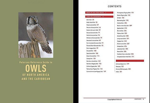 owls table of contents